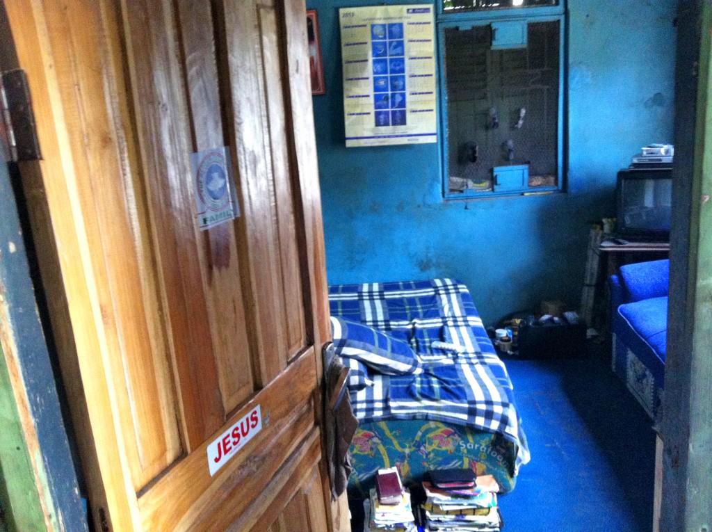 In diesem Zimmer wohnte Vincent zusammen mit zwei Bekannten bis Ende 2013