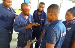 Vincent (middle) at the Lady Mechanic Initiative